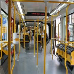 Tramway SOLEA Mulhouse - Sièges en velours Trajet