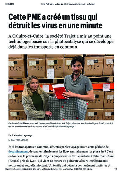 Article Le Parisien 01062020